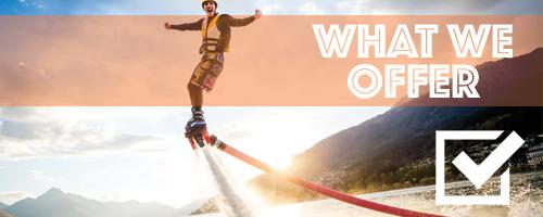what we offer Jet Ski Rentals